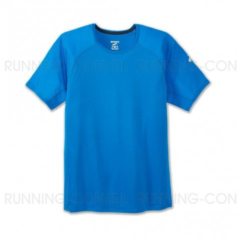BROOKS TEE-SHIRT MANCHES COURTES STEALTH HOMME | AZUL | Collection Printemps-Été 2019
