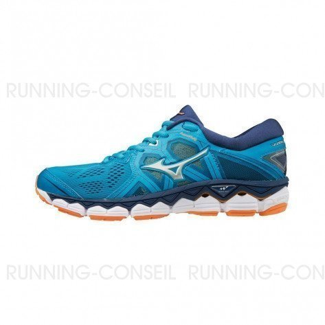 MIZUNO WAVE SKY 2 Femme Hawaiian Ocean/Silver/Bird of Paradise | Collection Automne Hiver 2018