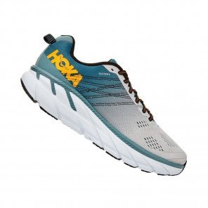HOKA CLIFTON 6 WIDE HOMME | Lead / Lunar Rock