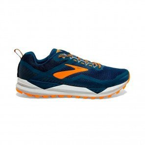 BROOKS CASCADIA 14 Homme | Poseidon/Orange/Grey