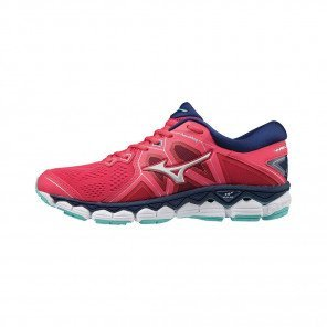 MIZUNO WAVE SKY 2 Femme Teaberry/Silver/Blue Depths | Collection Automne Hiver 2018